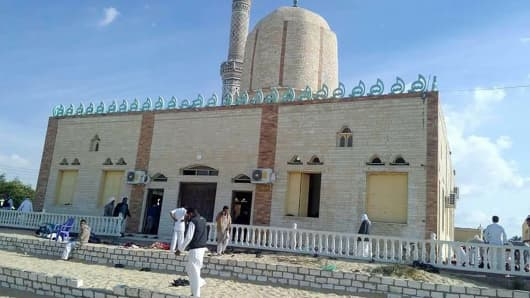 Image result for Egypt Mosque Attack Death toll hits 235 after bomb and gun assault