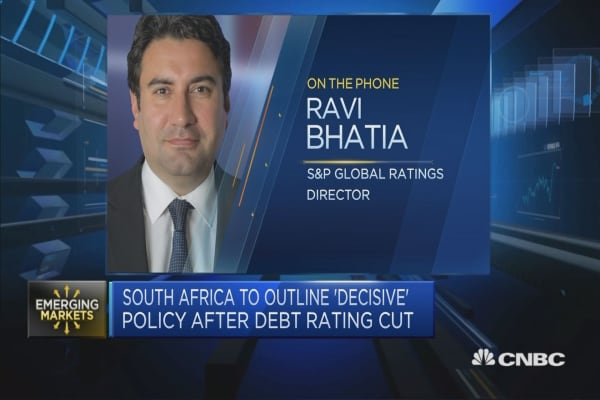 S&P: Weak GDP growth has further deteriorated South Africa's finances