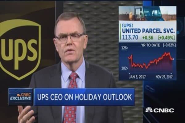 UPS CEO David Abney: The holiday shopping season has gotten off to a great start