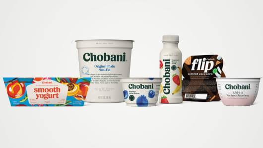 Chobani introduces new packaging.