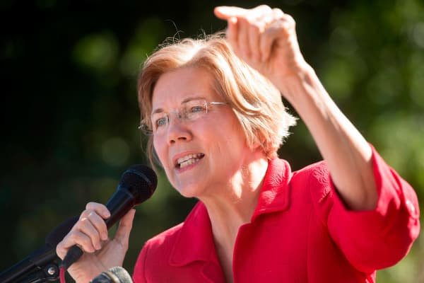 Senator Elizabeth Warren, Democrat from Massachusetts.