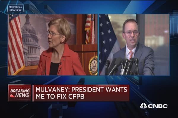 Sen. Warren: Congress has no plans to change the structure of the CFPB