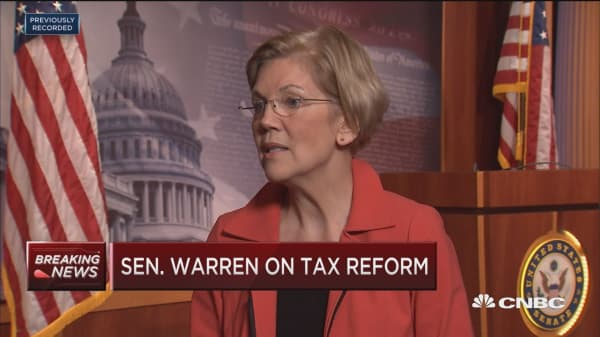Sen. Warren: Republican tax proposal would benefit thin slice of high income earners