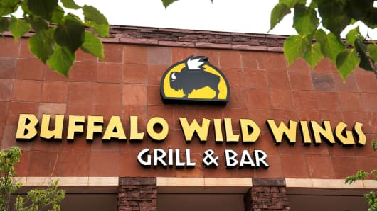The Buffalo Wild Wings restaurant in Superior, Colorado.