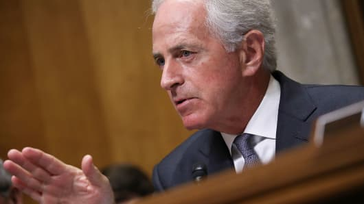 Sen. Bob Corker (R-TN), Chairman of the Senate Foreign Relations Committee.