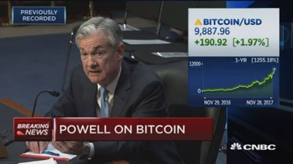 Bitcoin is still not big enough to destabilize an economy, Fed nominee Powell says