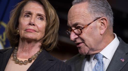 Senate Minority Leader Charles Schumer, D-N.Y., and House Minority Leader Nancy Pelosi, D-Calif.