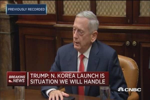 Sec. Mattis: North Korea missile went higher than previous missiles