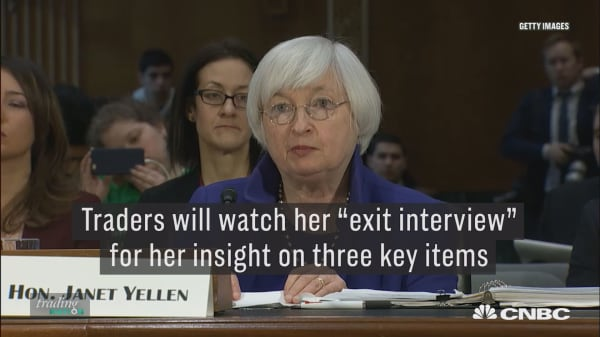 Here are three key areas to watch in Yellen's last testimony as Fed chair