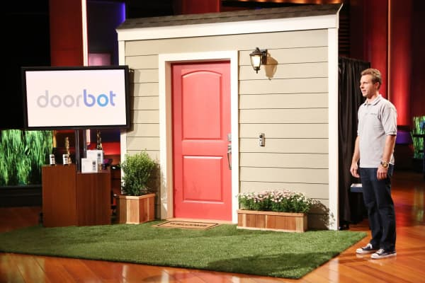 "Ring CEO Jamie Siminoff on ABC's ""Shark Tank"" in season 5."