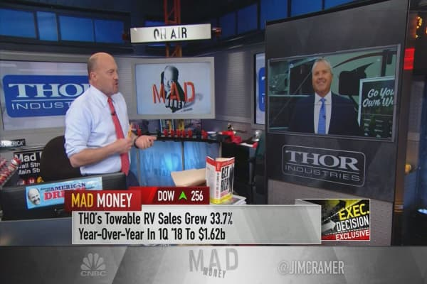 CEO of RV maker Thor Industries attributes stock's 13% rise to younger buyers, 'changing lifestyle'