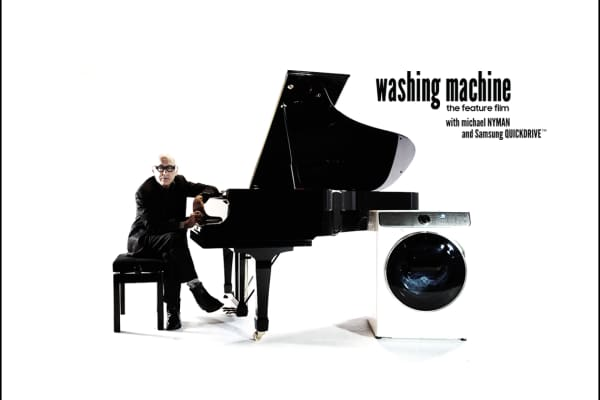 Composer Michael Nyman has written music to accompany a movie featuring a Samsung washing machine cycle