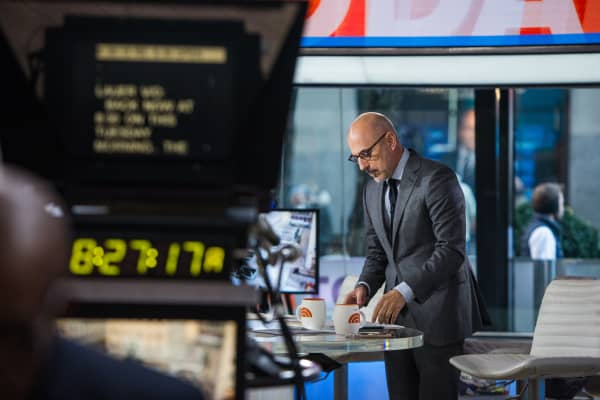 Matt Lauer on the set of the TODAY Show on Tuesday, November 21, 2017