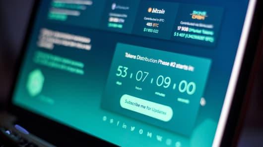 Bitcoin web trading screen
