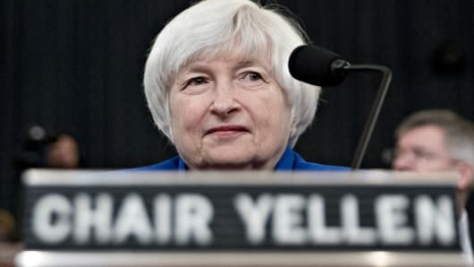 Janet Yellen, chair of the U.S. Federal Reserve, arrives to a Joint Economic Committee hearing in Washington, D.C., on Wednesday, Nov. 29, 2017.