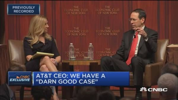 AT&T CEO Randall Stephenson: We see absolutely nothing in this case that's lawfully anti-competitive