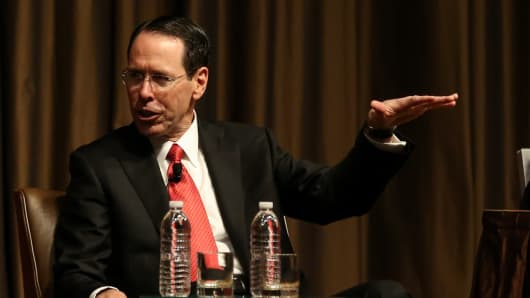 Randall Stephenson, CEO of AT&T speaking at the New York Economic Club on Nov. 29th, 2017.