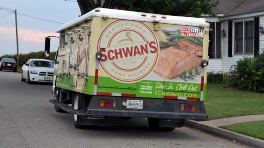 Schwan's truck.