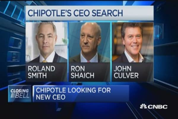 Chipotle stock down as company looks for new CEO