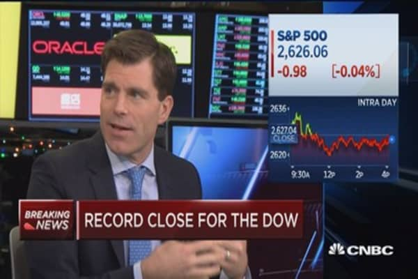 Record close for the Dow