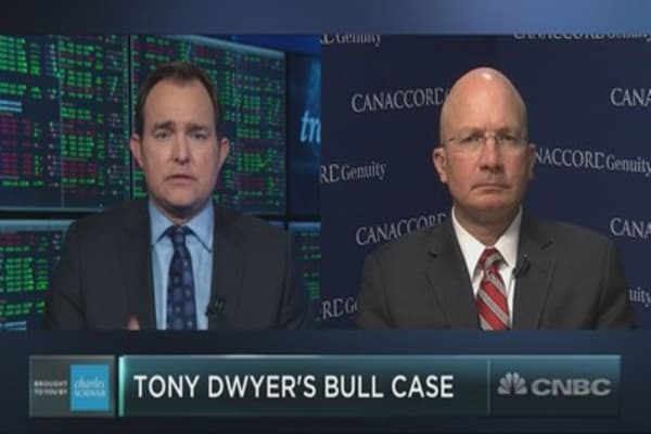 The bull market's fate hinges on one thing, says Canaccord's Tony Dwyer