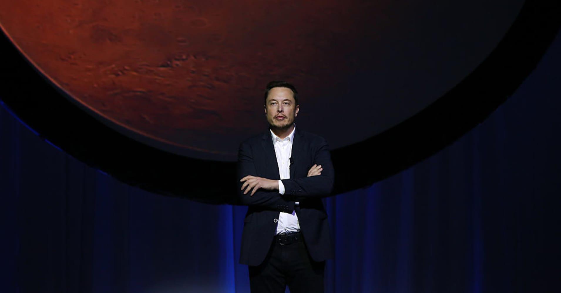 Tech entrepreneur Elon Musk at the 67th International Astronautical Congress in Guadalajara, Mexico, on Sept. 27, 2016.
