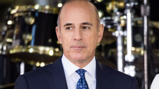 Matt Lauer attends NBC's 'Today' at Rockefeller Plaza on September 29, 2017 in New York City.