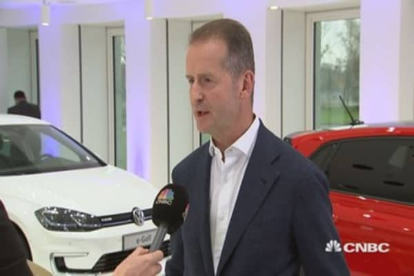 New competitors will be 'challenging' for autos industry, says VW's Diess