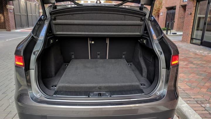 The Jaguar F-Pace 20d R-Sport trunk