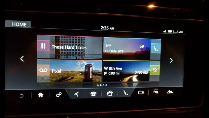 The Jaguar 20d R-Sport infotainment system is sluggish