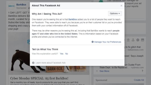 Why Facebook ads follow you