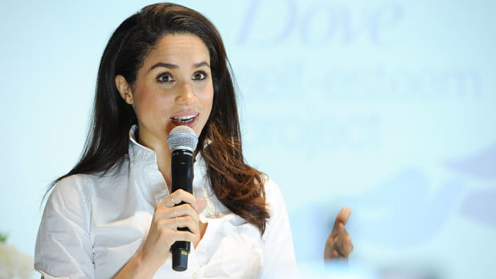 Actress and United Nations Women's Advocate, Meghan Markle attends the Dove Self-Esteem Project