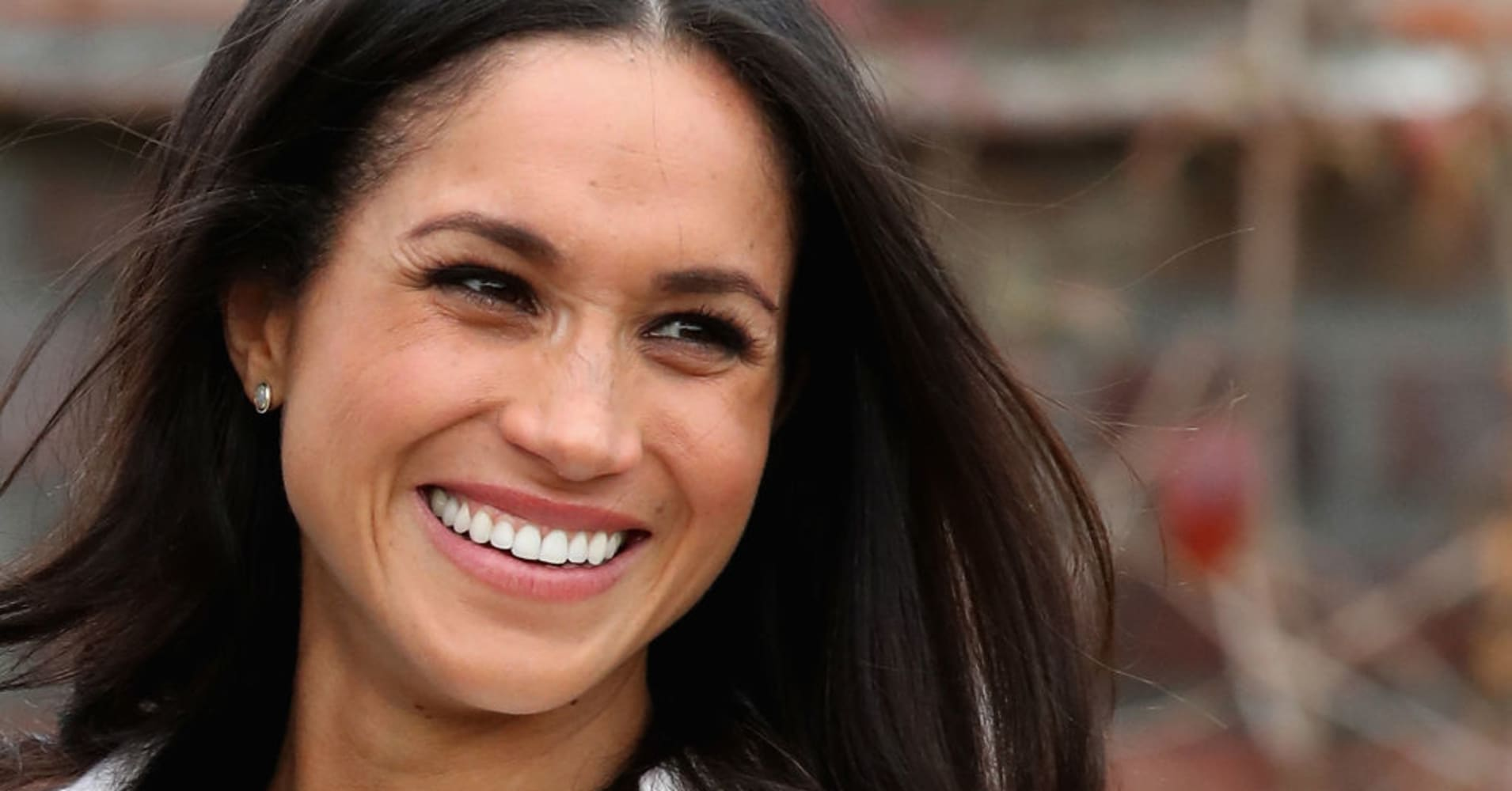 Meghan Markle during an official photocall to announce the engagement of Prince Harry and actress Meghan Markle at The Sunken Gardens at Kensington Palace