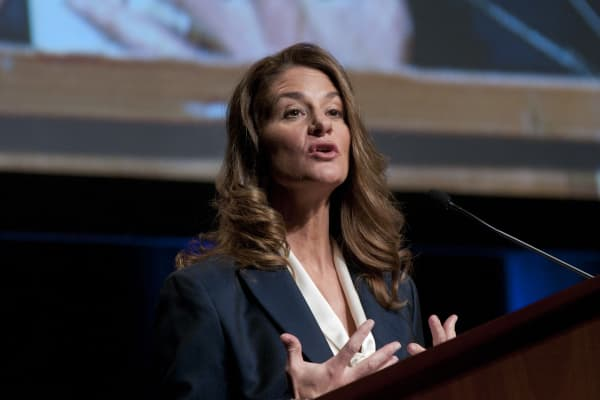 Melinda Gates speaks during a luncheon during the 2010 Women Deliver Conference at The Walter E. Washington Convention Center