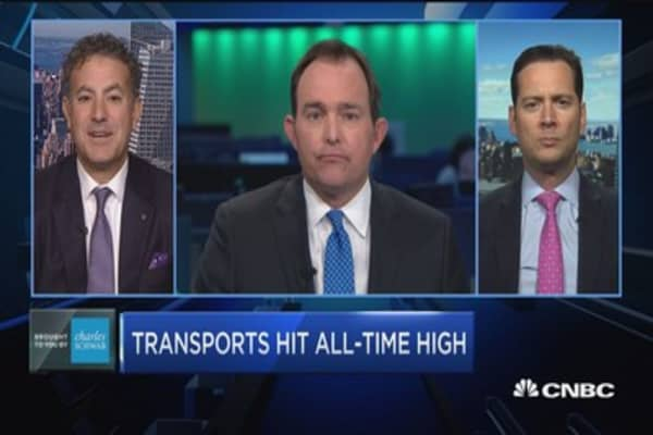 Trading Nation: Transports hit all-time high