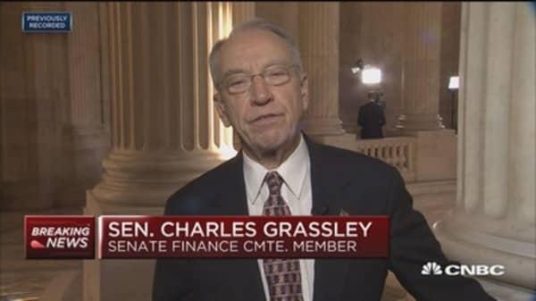 Sen. Grassley on tax bill: I believe accomodating changes get us to 52 votes
