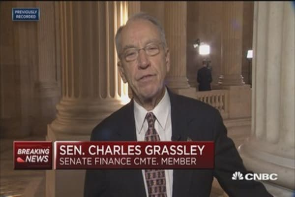 Sen. Grassley on tax bill: I believe accomodating changes get us to 52 votes