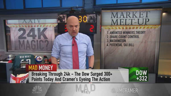 Cramer's 10 reasons for why the surging market feels like a melt-up