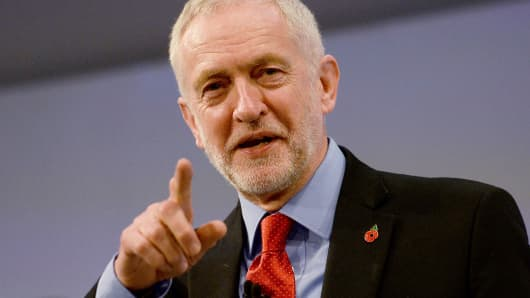Jeremy Corbyn, the leader of Britain's opposition Labour Party