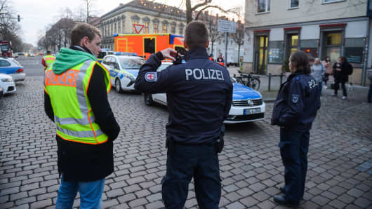 German Christmas market evacuated after explosives found