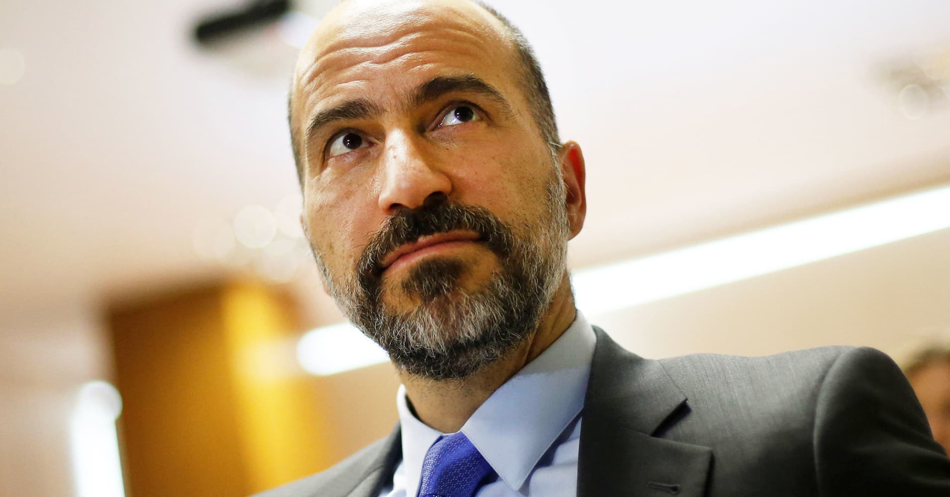 The chief executive of Uber Technologies, Dara Khosrowshahi.