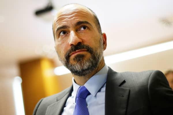The chief executive of Uber Technologies, Dara Khosrowshahi.