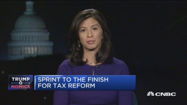 Sprint to the finish for tax reform