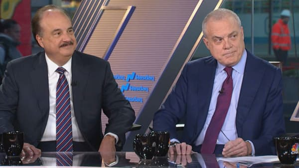 CVS CEO Larry Merlo and AETNA CEO Mark Bertolini.