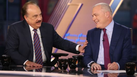 Larry Merlo, CEO of CVS and Mark Bertolini, CEO of AETNA appear on Squawk Box on Dec. 4th, 2017.