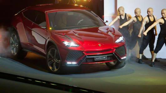 The Lamborghini SpA Urus sport-utility vehicle.
