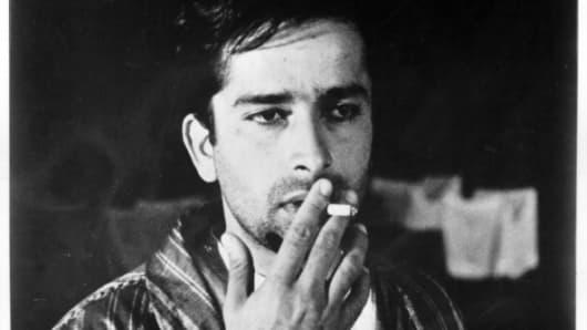 Actor Shashi Kapoor on set of the movie 'Shakespeare-Wallah,' circa 1965.