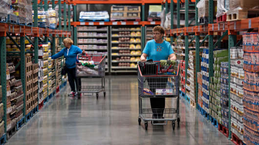 A woman shops at a Costco Wholesale Corp. store in East Peoria, Illinois.