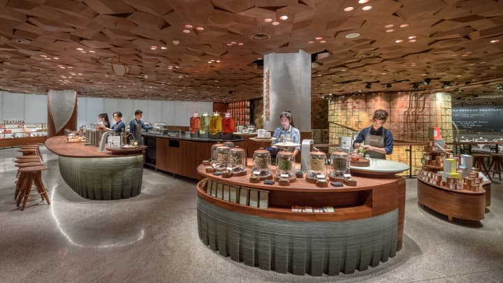 China's first Starbucks Teavana Bar