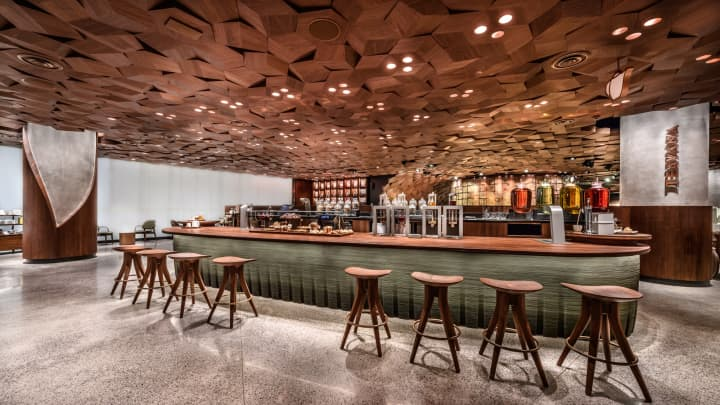 Starbucks' Shanghai Roastery has three coffee experience bars